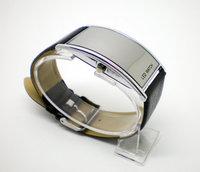 Holiday sale high quality smooth mirror leather watch women men ladies fashion sports led digital watch BMN001
