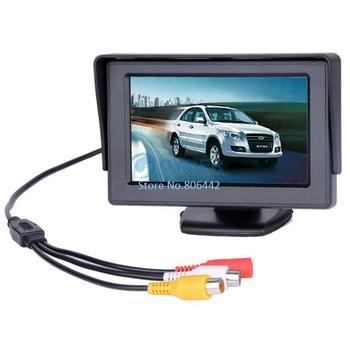 "4.3"" Dashboard Backup Color TFT LCD Car Monitor Rearview for Camera DVD VCR  dropshipping B14 1397"