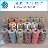 19 kinds color Double colored cotton Baker twine, twine cotton, gift packing twine (110yards/spool)() (By EMS)
