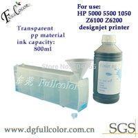 Free shipping 6pcs bulk refillable ink cartridge  + 1pcs chip decoder for HP designjet 5000,5500 wide format printer
