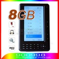 High Quality 7 inch 720P Ebook Reader 8GB  E-book with Gift Leather Case +Free shipping