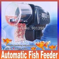 Dropship Digital Automatic Aquarium Tank Auto Fish Feeder Food Feeding 2009D LCD Display Auto Timer pet feeder free shipping
