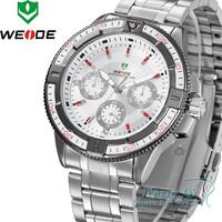 Fashion Weide Men Analog Digital Watch Stainless Steel Sport Wristwatches Quartz Watches Free Ship