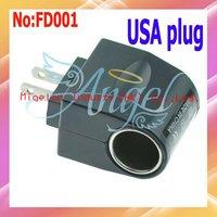 Universal Car Charger Cigar Lighter to USA Plug Converter Power Plug Adapter with good price |100pcs/Lot   #FD001