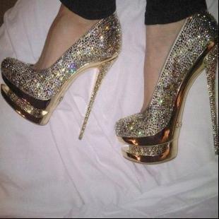 HOT New double platform, colorful diamond women shoes, high heels shoes(34-45EUR)