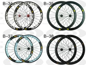 China carbon Wheelset C/T 50 3K weave wheels 50mm Factory sale 50mm carbon wheelset clincher with rim spoke hub nipples