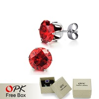 OPK JEWELRY Stud Earrings 3.6 CT Earring crystal earrings STUDS EAR CAP Free Shiping 218