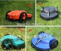100m Virtual Wire&200Pegs/Automatic Lawn Mower+Remote Controller+Li-ion Battery+Rain Sensor+Free Shipping