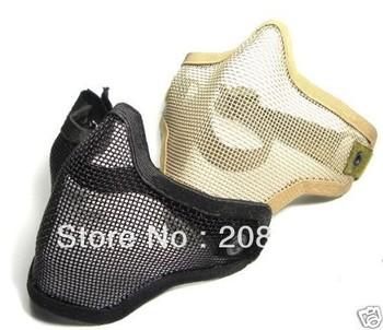 Wholesale Free Shipping 5pcs/lot  Khaki/Black color Tactical TMC metal net mask Metal mesh mask