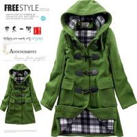Women Wool Coat Hot Fashion Slim Outerwear Duffel Overcoat Winter Clothes Trench Coat Outdoor Hood Woolen Coats