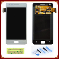5PCS/LOT For Samsung For Galaxy SII i9100 LCD with Touch Screen Assembly + Open Tools + Sticker Free shipping by DHL