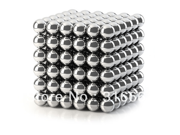 Free Shipping magetic balls 2pcs/lot Buckyballs Free shipping 216 D5mm Silver Neocubes Toy Neo Cubes super Magnet Balls(China (Mainland))