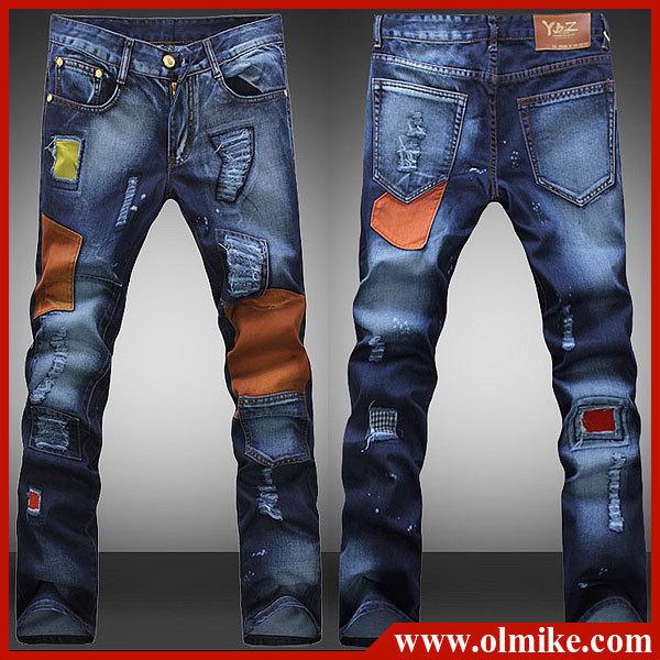 free shipping men 39 s vintage distressed brand denim jeans. Black Bedroom Furniture Sets. Home Design Ideas