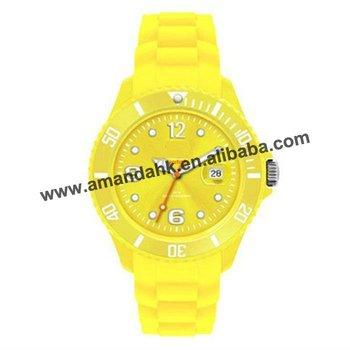 32pcs/lot,fashion watch wholesale,13colors calendar style silicone watch,2013 hot sale brand watch.