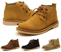 Top Quality 2013 New Men's genuine leather Ankle boots Natural Rubber soles Office work footwear size:38-44