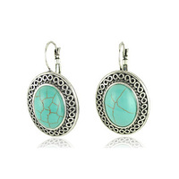 (Mix minimum order USD10) Turquoise stone earrings Green Turquoise Earring Wholesale