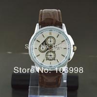 Fashion Men's Quartz Watches Leather Watch Casual Dress Wristwatches New 2015