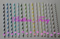 1000pcs Free shipping Mixed  Wave,Chevron,Star,Heart, Polka Dot Stripe Paper Straws,Party Supplies Drinking Paper Straws