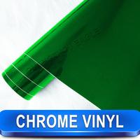 Free Shipping High Quality Chrome Foil Removable PVC Green Chrome Mirror Vinyl Film