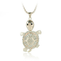 Korean Fashion Jewelry N1252 Cute Turtle Necklace For Women Free Shipping