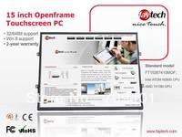 15 inch Open Frame Touch Screen Panel PC Intel Atom Processor N2600 CPU 2G Ram, 30G SSD Fanless Design