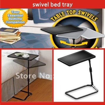 Free shipping 12pcs/lot Swivel Bed Tray/Computer Desk/Laptop Desk/Folded desk As seen on TV(China (Mainland))