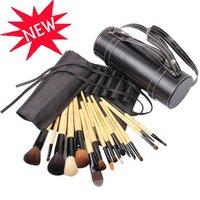 18 pcs/set  Wooden Cylinder Makeup Brushes, Classic Makeup Brush,Brushes Set Free Shipping