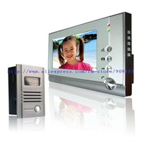 "The latest free shipping 7"" COLOR  high brand-luxury video door phone / outdoor unit with aluminum alloy"