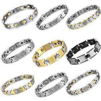 OPK JEWELRY 10pcs/lot MIX ORDER Tungsten Carbide Bracelet Magnetic Stone Balance Energy Health Care Bangle WHOLESALE PRICE
