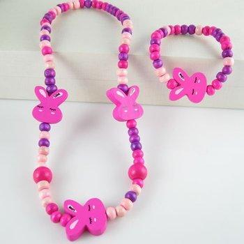 Handmade children jewelry sets!child/kid/baby products cute rabbit children gift N  CS15