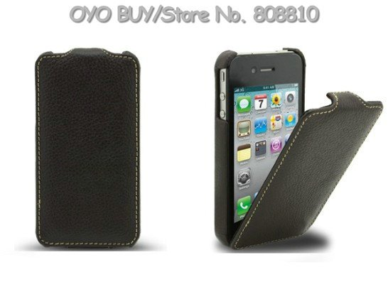Чехол для для мобильных телефонов Hot selling shpipping flip PU leather case for iphone 4s/4 fashion leather protected cover