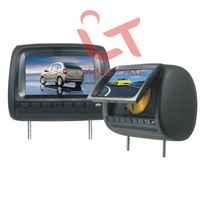 T666D - 7 inch  headrest  car DVD player/touch screen/usb sd reader/digital panel and 32 bit games