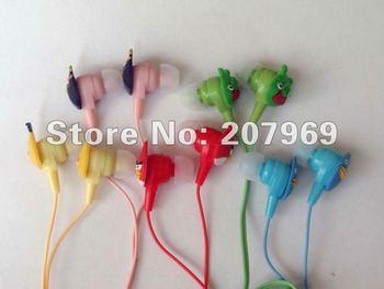 FreeShipping, Newly cute Cartoon Earphone Headphone in-ear earphone 5pcs/lot