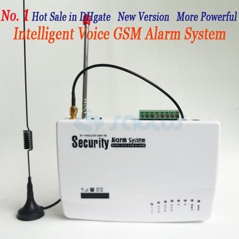 No.1 HOT SALE GSM HOME BURGLAR ALARM SYSTEM New Version More Powerful Double Antenna Real Voice Prompt SG-122