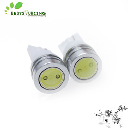 Free shiping 10x White T10 194 168 high power Car LED light Bulbs 1W(China (Mainland))