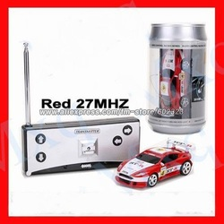 Free shipping, Wholesale - Coke Can Mini RC Radio Remote Control Micro Racing Car(China (Mainland))