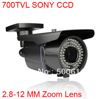 "700TVL EFFIO-E 1/3"" SONY Exview CCD 2.8-12mm Zoom Lens Waterproof 72 IR CCTV Surveillance Camera"