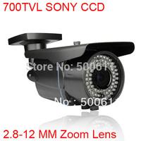 "700TVL EFFIO-E 1/3"" SONY Exview CCD 2.8-12mm Zoom Lens Waterproof 72 IR CCTV Surveillance Camera"