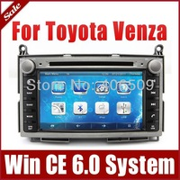 "7"" Car Radio Car DVD Player for Toyota Venza 2008-2013 with GPS Navigation Bluetooth TV USB SD AUX Auto Audio Video Navigator"