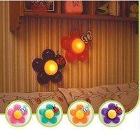 Novelty Flower LED Pat Night Lamp Light  for Kids Children Christmas Gifts Wall Led Lights Bedside Lamps Home Decor Freeshipping