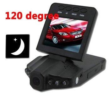 Dropshipping! 2.5 inch TFT LCD Car Camera with 120 degree,Night Vision 6 IR LED H198 SC189