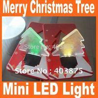 2014 New xmas tree shape LED pocket lamp,Mini Portable Folding led Pocket Wallet Credit card light Merry Christmas Tree