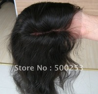"Middle Part Natural Wave Natural Brazilian  Hair Lace Frontal (4"" x 13"")"