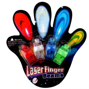 New 3Sets(4Pcs/Set )Color LED Bright Finger Ring Lights Rave Party Glow # 2102