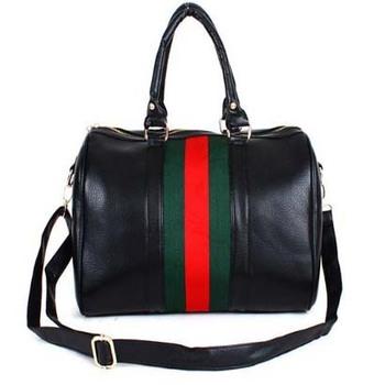 PU leather men travel bags , women luggage travel bags, stripe retro travel bag freeshipping