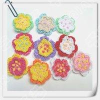 Hand crochet cotton flower x 100pcs shipping free