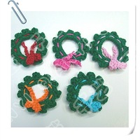 Hand crochet cotton flower x 50pcs shipping free