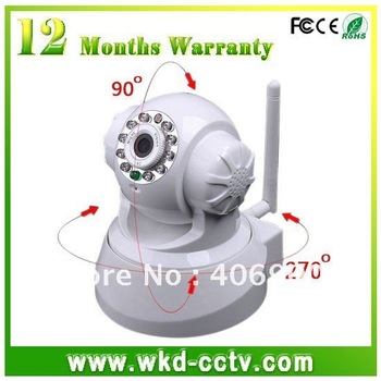 Nightvision LED IR Webcam Web Camera WiFi Wireless IP Camera white/ black color freeshipping