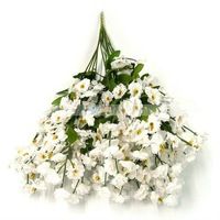 12pcs New Fashion Lovely White Silk Baby&#39;s Breath Wedding Flowers Artificial Simulation Flower Free Shipping J9016WH