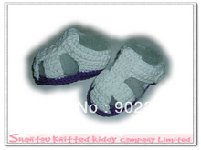 Free shipping( 10pairs/lots), cotton crocheted baby shoe in boy sandal design, wholesale or retail(China (Mainland))
